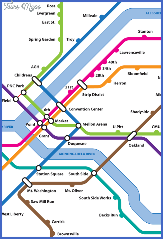 pittsburgh subway map  5 Pittsburgh Subway Map