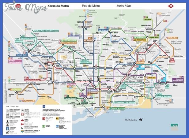 plano metro barcelona 2 Plano Subway Map