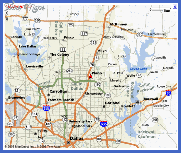 plano texas map Irving Metro Map