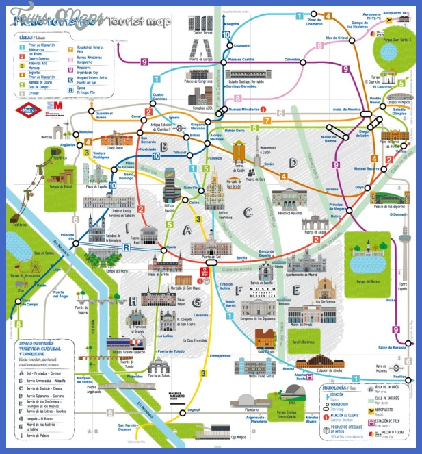 plano turistico metro madrid Colombia Subway Map