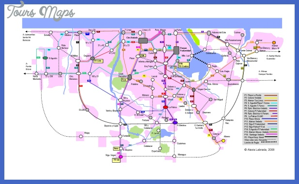 plano rutas del metrobus de la habana Cuba Metro Map