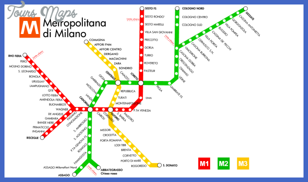 planometromilan Milan Subway Map