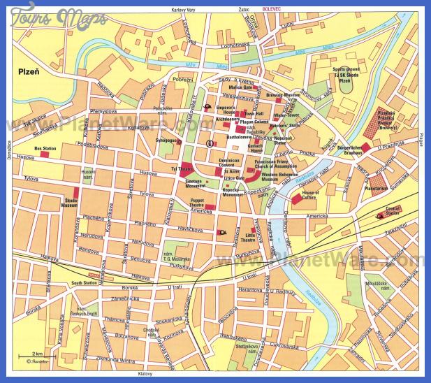 plzen map Czech Republic Map Tourist Attractions