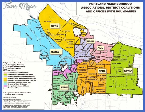 portland map  1 Portland Map