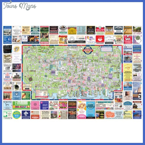 Portland Map Tourist Attractions ToursMapsCom – Portland Tourist Map