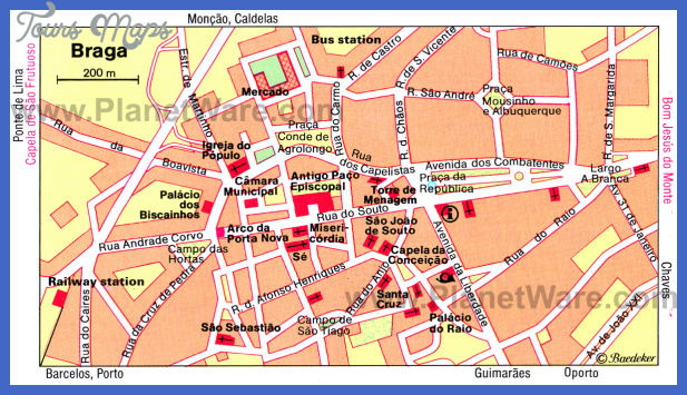 Portugal Map Tourist Attractions ToursMapsCom – Tourist Attractions Map In Portugal