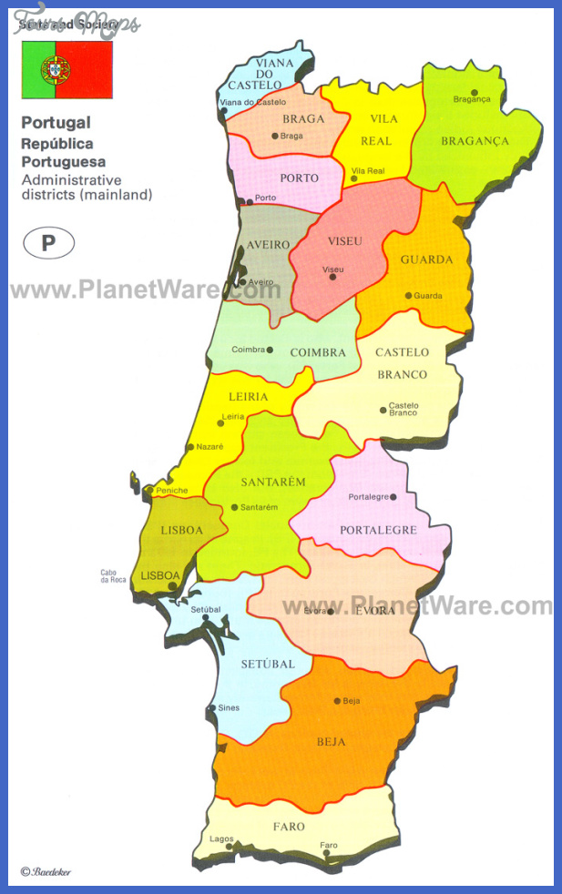 portugal map Portugal Map Tourist Attractions