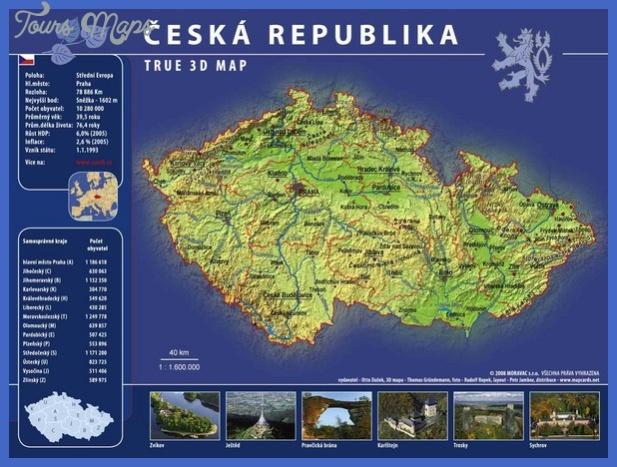 prague czech republic tourist map 3 mediumthumb Czech Republic Map Tourist Attractions
