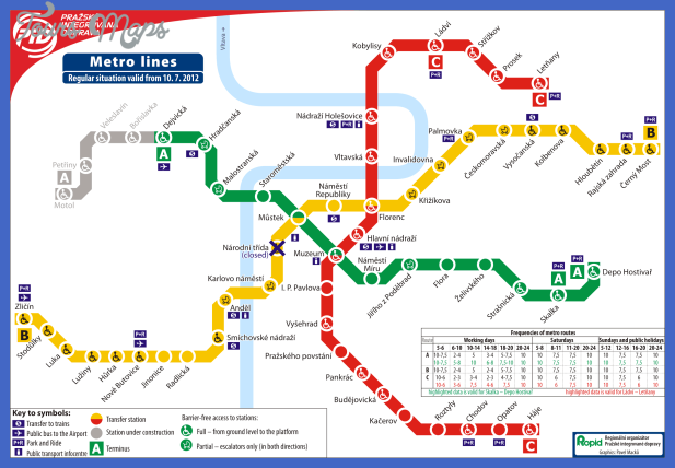 praha metro 1 Czech Republic Metro Map