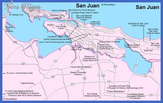 puerto rico san juan map San Juan Map Tourist Attractions