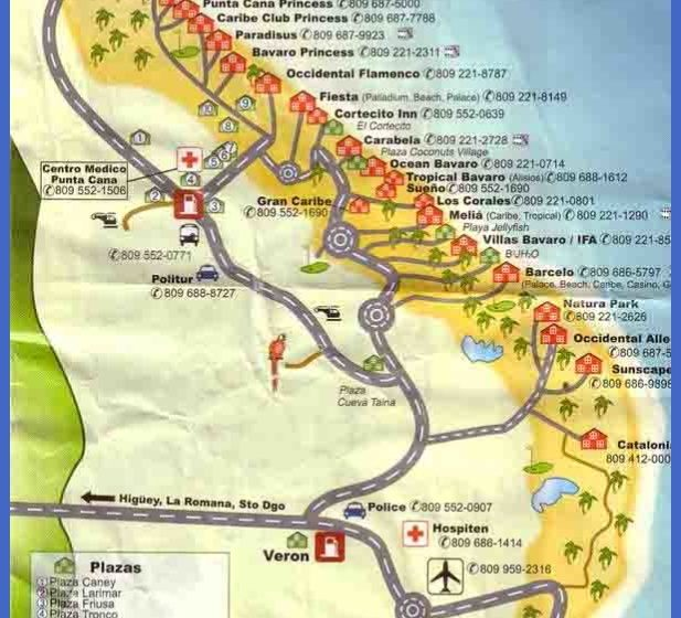 Dominican Republic Map Tourist Attractions ToursMapsCom – Tourist Attractions Map In Dominican Republic