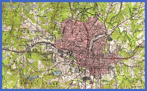 raleigh nc 1951 Garland Subway Map