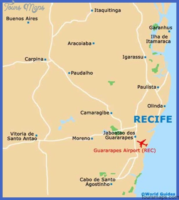 recife map tourist attractions  1 Recife Map Tourist Attractions