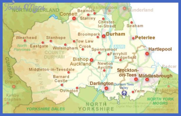 regionmap Durham Map Tourist Attractions