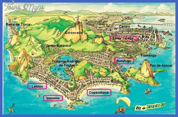 Rio de Janeiro Map Tourist Attractions ToursMapsCom – Tourist Map Of Rio De Janeiro