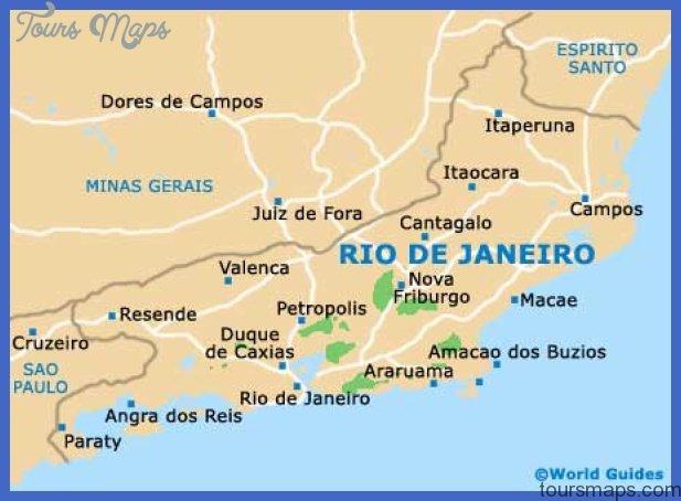 Rio De Janeiro On A Map Rio de Janeiro Map   ToursMaps.®
