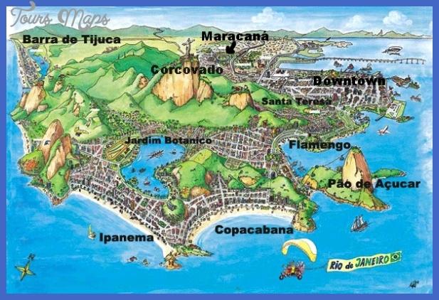 rio de janeiro map 1 Rio de Janeiro Map