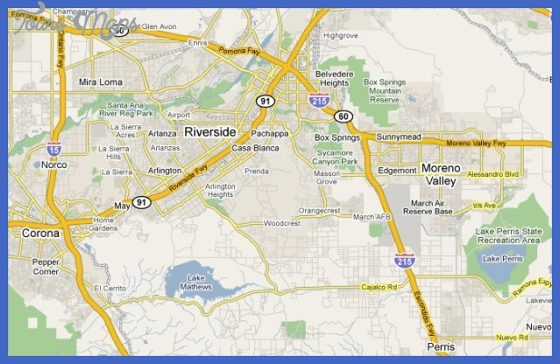 riverside map Riverside San Bernardino Subway Map