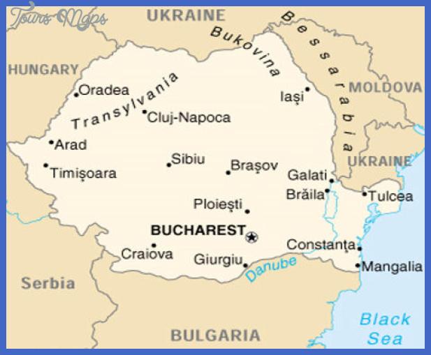 romania map Romania Map Tourist Attractions