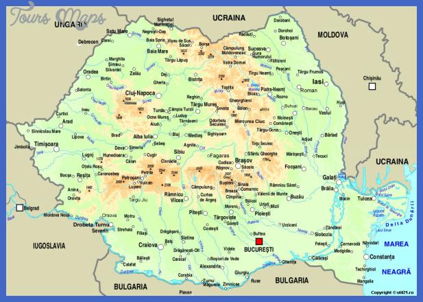 romania Romania Map