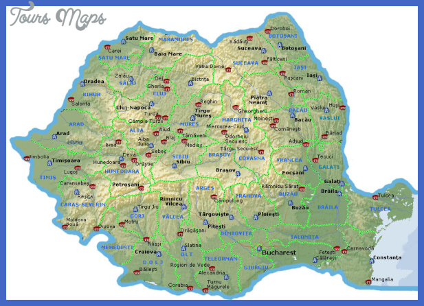 romap Romania Map Tourist Attractions
