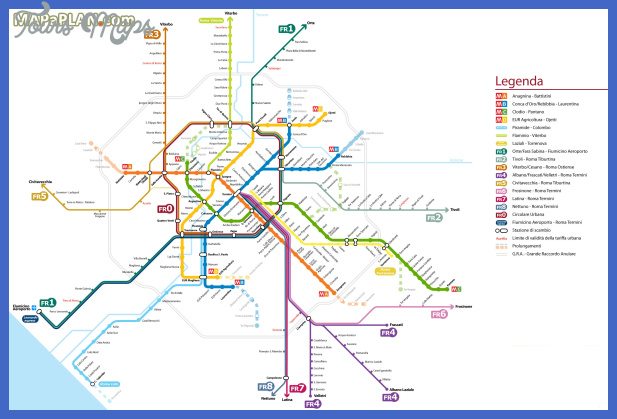Rome Metro Subway Map.Rome Subway Map Toursmaps Com