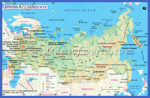 Russia Map Tourist Attractions ToursMapsCom – Tourist Attractions Map In Russia