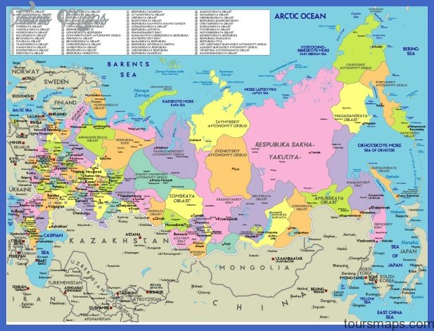 russia map 1 Russia Map