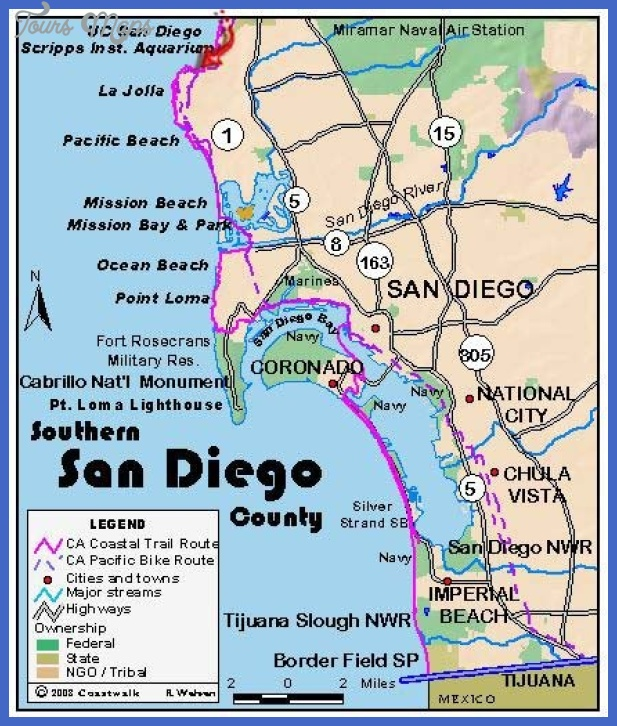 san diego beach map mediumthumb San Diego Map