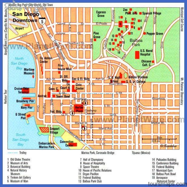 san diego downtown map San Bernardino Map Tourist Attractions