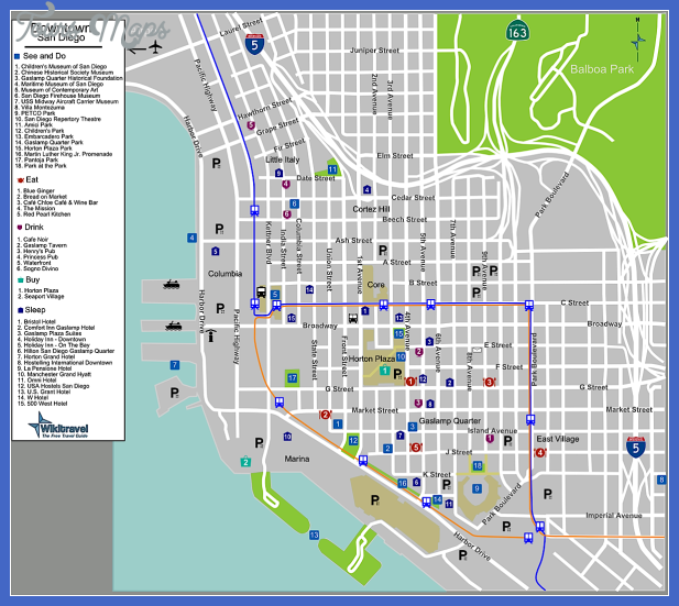 san diego map  5 San Diego Map