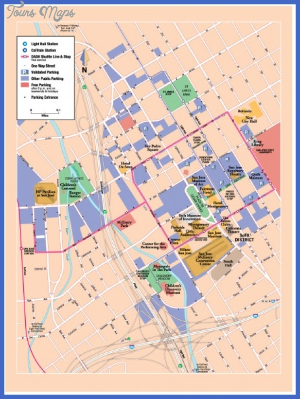 San Jose Map Tourist Attractions ToursMapsCom – San Jose Tourist Attractions Map