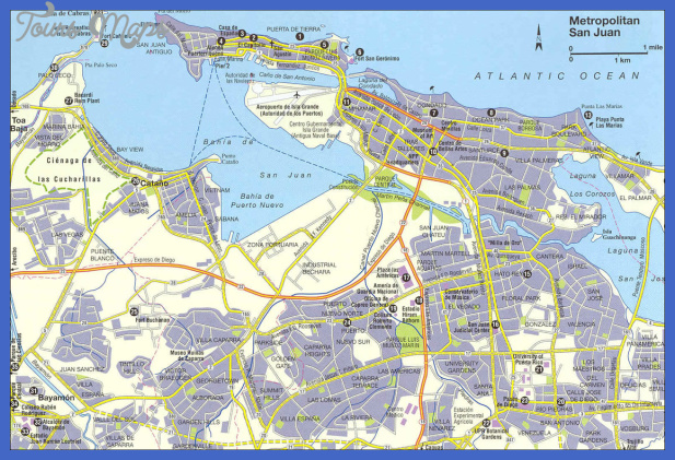 San Juan Map Tourist Attractions ToursMapsCom – San Juan Tourist Attractions Map