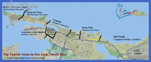 San Juan Map Tourist Attractions ToursMapsCom – Tourist Map Of San Juan Puerto Rico