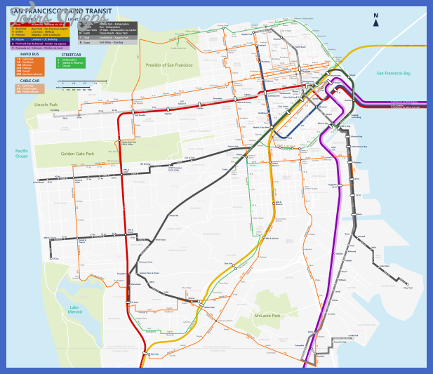san francisco streetcar map by qweqwe321 Recife Subway Map