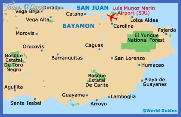 san juan map San Juan Map Tourist Attractions