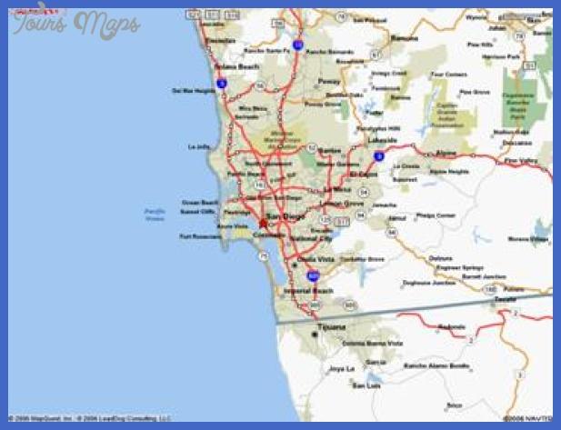 sandiego map San Diego Metro Map
