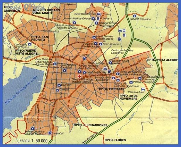 santiago de cuba city1 map 1 Cuba Subway Map