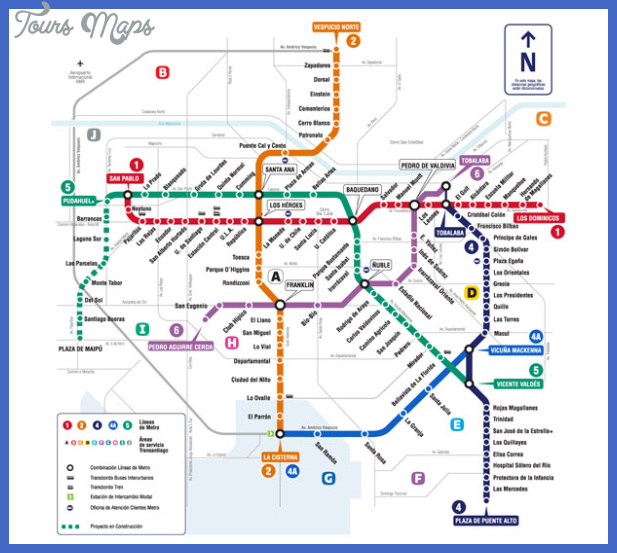 santiago cl Chile Metro Map