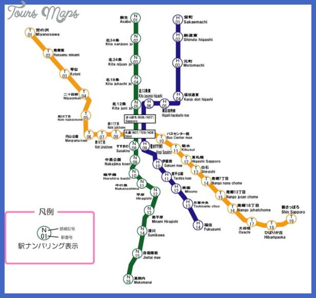 sapporo metro map  3 Sapporo Metro Map