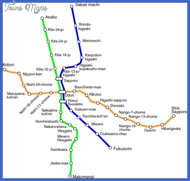 sapporo metro map mediumthumb Sapporo Metro Map