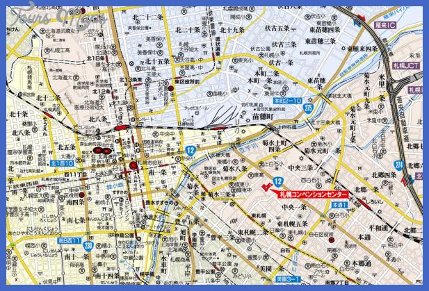 sapporo map Sapporo Map Tourist Attractions