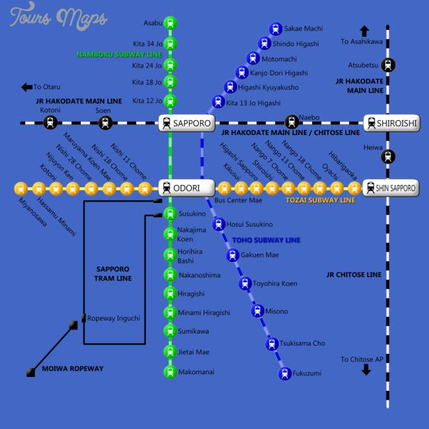 sapporo subway full 1 Sapporo Subway Map