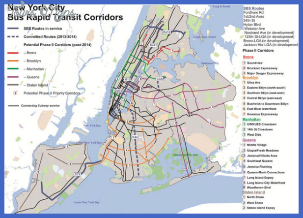 sbs nyc bus rapid transit proposed map Curitiba Subway Map