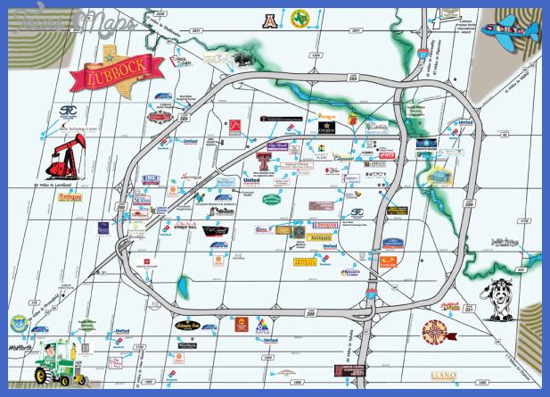 scenic Lubbock Map
