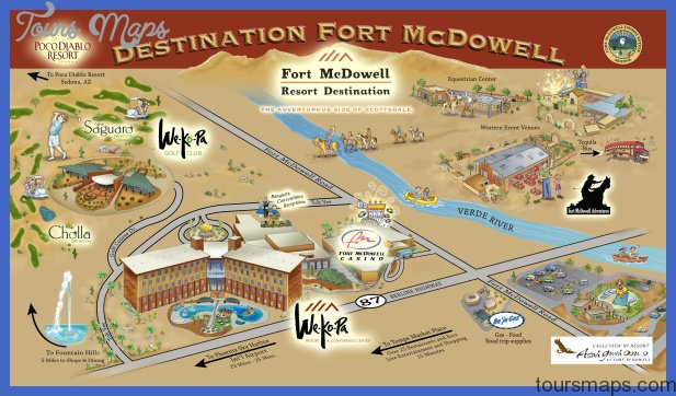 Scottsdale Map Tourist Attractions ToursMapsCom – Tourist Attractions Map In Pa