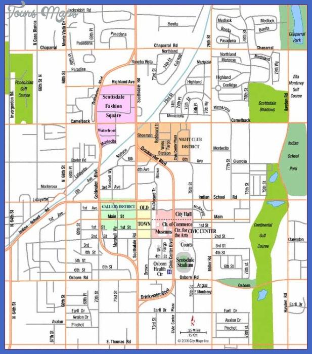 scottsdale center Scottsdale Map