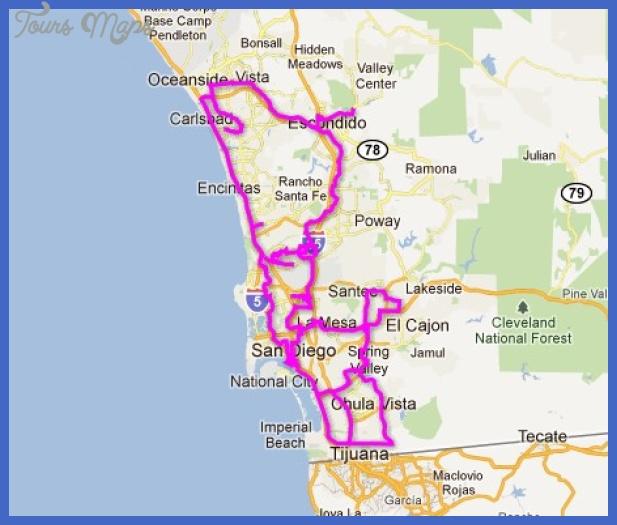 San Diego Subway Map Toursmaps Com