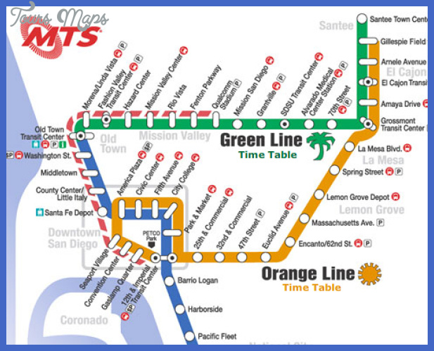 San Diego Subway Map Toursmaps Com