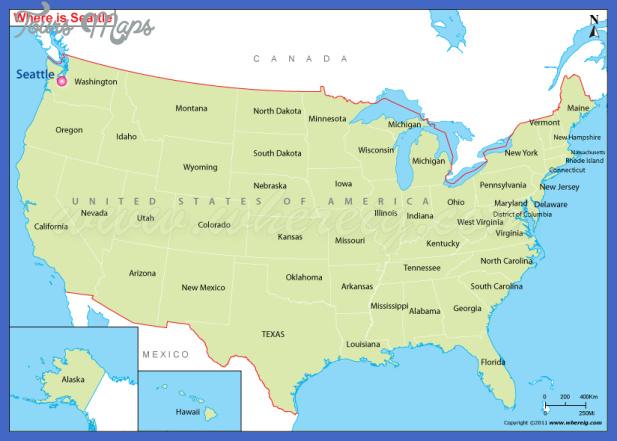seattle location map Seattle Map